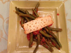 Sauteed Green Beans with Tomatoes
